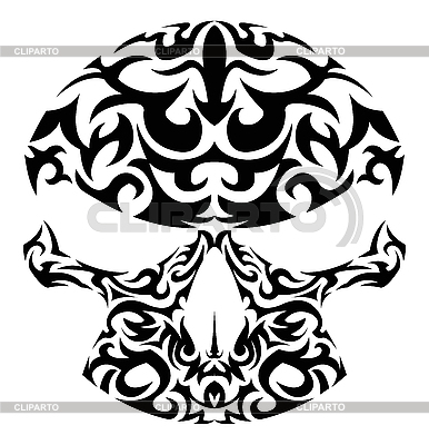 Tribal skull tattoo | Stock Vector Graphics |ID 3023574