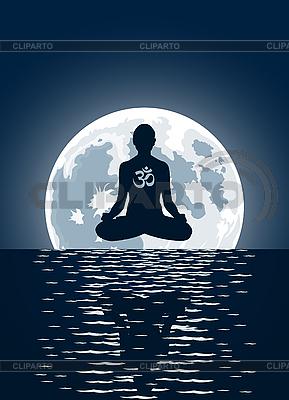 Joga und Mond   Stock Vektorgrafik  ID 3023670