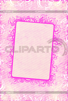 Pink floral frame | High resolution stock illustration |ID 3023678