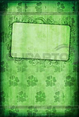 Grunge tła z koniczyny i ramą | Stockowa ilustracja wysokiej rozdzielczości |ID 3023695