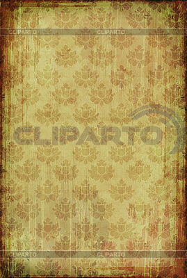 Vintage wallpaper with floral pattern  | High resolution stock illustration |ID 3023698