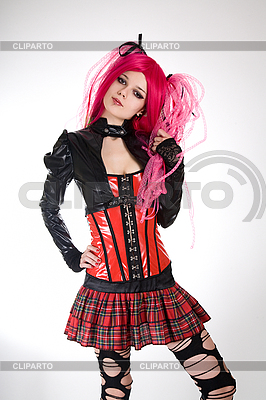 Attractive gothic girl   | High resolution stock photo |ID 3023710