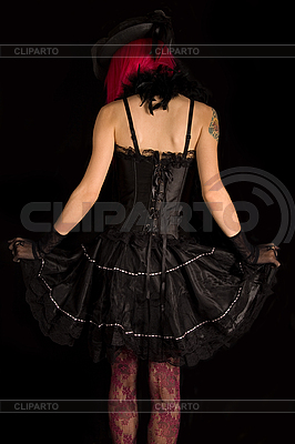 Cabaret girl in black corset dress  | High resolution stock photo |ID 3023735