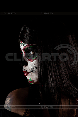 Portrait of Sugar skull girl  | High resolution stock photo |ID 3038296