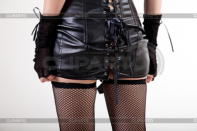 Sexy woman dressed in leather dress | High resolution stock photo |ID 3073733