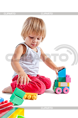 Cute little boy playing with toys | High resolution stock photo |ID 3102872