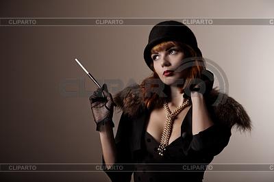 Artistic shot of beautiful retro woman | Foto stockowe wysokiej rozdzielczości |ID 3291056