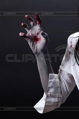 Przerażające zombie krwawa ręka | Foto stockowe wysokiej rozdzielczości |ID 3347368