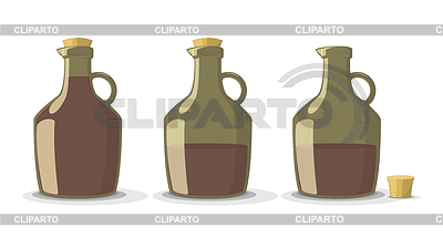 Set of wine bottles | Stock Vector Graphics |ID 5129933