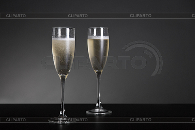 Champagne glasses for New Year and holidays | High resolution stock photo |ID 5284679