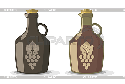 Set of two wine bottles | Stock Vector Graphics |ID 5423328