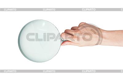 Frauenhand mit Lupe | Foto mit hoher Auflösung |ID 3019841