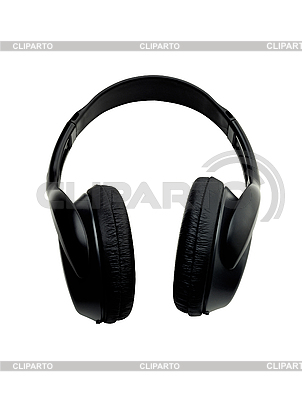 Black earphones isolated on the white | High resolution stock photo |ID 3019885