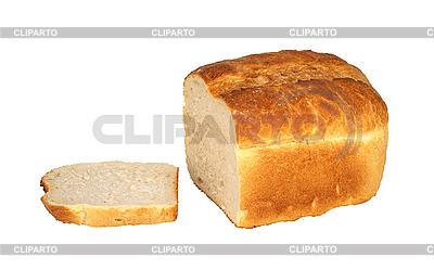 Chleb samodzielnie nad białym | Foto stockowe wysokiej rozdzielczości |ID 3019896