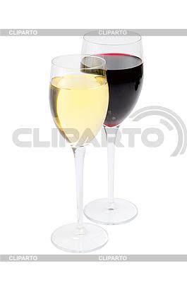 Красное и белое вино в бокалах | Фото большого размера |ID 3019934