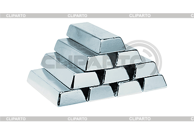 Silver bars isolated on white | High resolution stock photo |ID 3019937