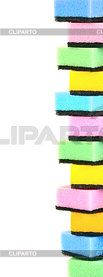 Multicolored sponges | High resolution stock photo |ID 3110526