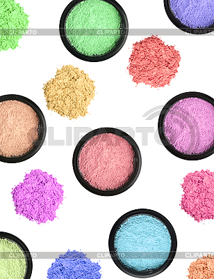 Wielobarwne kosmetyki cienie do powiek | Foto stockowe wysokiej rozdzielczości |ID 3110561