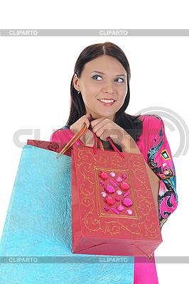 Schöne junge Frau mit Einkaufstüten | Foto mit hoher Auflösung |ID 3021585