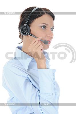 Piękne młoda kobieta w słuchawek | Foto stockowe wysokiej rozdzielczości |ID 3021607