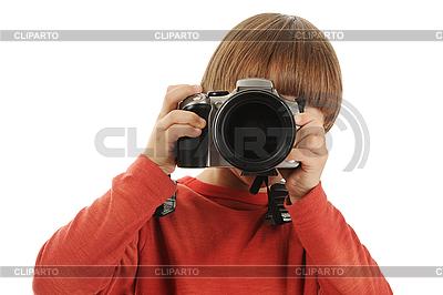 男孩拥有相机 | 高分辨率照片 |ID 3021618