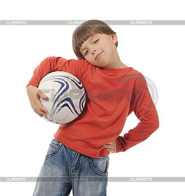 Cheerful boy with soccer ball | High resolution stock photo |ID 3021619