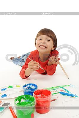 Little boy paints | High resolution stock photo |ID 3021620