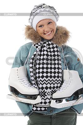 Девушка с коньками | Фото большого размера |ID 3021667