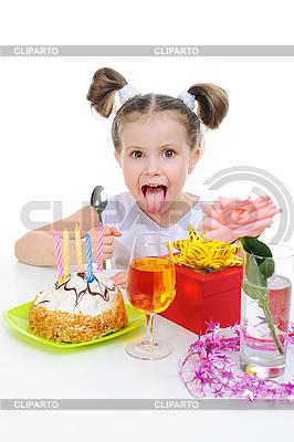 Beautiful little girl celebrates birthday | High resolution stock photo |ID 3021705