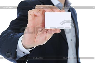 Man handing blank business card   High resolution stock photo  ID 3021841