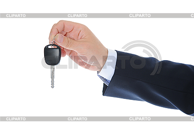 Businessman gives the keys to the car | High resolution stock photo |ID 3021844