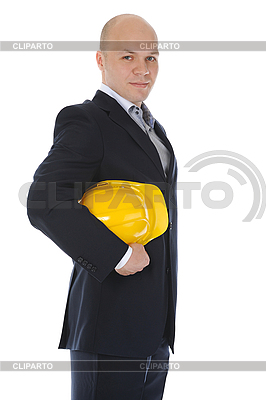 Businessman with construction helmet | High resolution stock photo |ID 3021849
