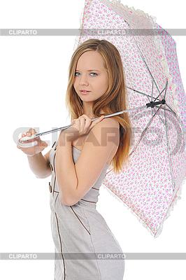 傘を持つ素敵な女性 | 高解像度写真 |ID 3021865