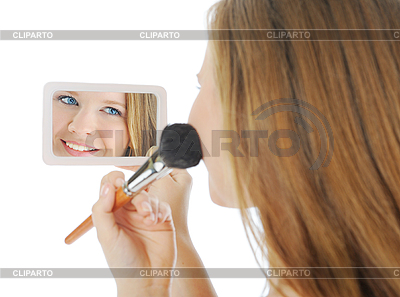 Woman with powder and brush | High resolution stock photo |ID 3021869