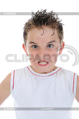 Wütender kleiner Junge | Foto mit hoher Auflösung |ID 3021944