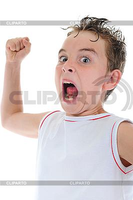 Wütender kleiner Junge | Foto mit hoher Auflösung |ID 3021945