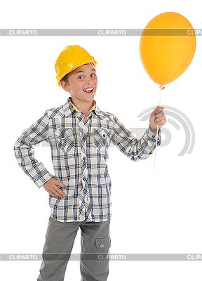 Little smiling builder in helmet | High resolution stock photo |ID 3021963