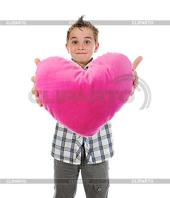Boy gives heart | High resolution stock photo |ID 3021966