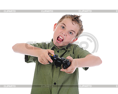 Funny boy with joystick | High resolution stock photo |ID 3021976
