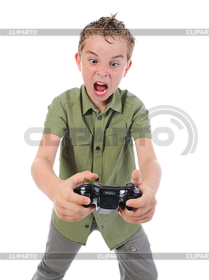 Funny boy with joystick   High resolution stock photo  ID 3021979