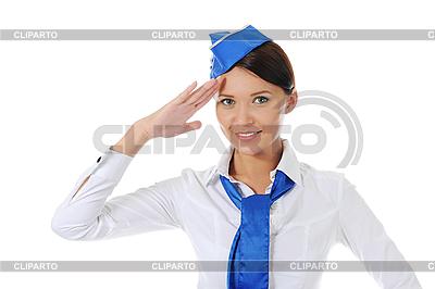Atrakcyjna stewardesa | Foto stockowe wysokiej rozdzielczości |ID 3021987