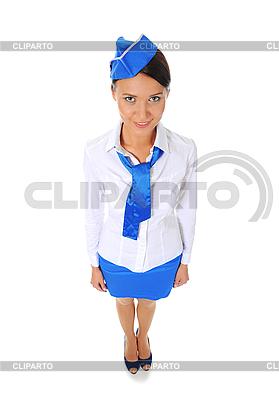 Atrakcyjna stewardesa | Foto stockowe wysokiej rozdzielczości |ID 3021989