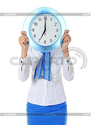 Stewardess hält Uhr | Foto mit hoher Auflösung |ID 3021994