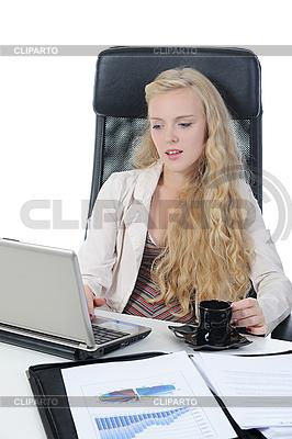 Blonde im Büro | Foto mit hoher Auflösung |ID 3022016