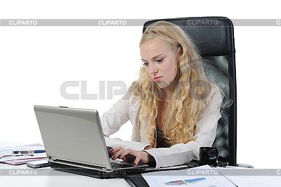 Kobieta w pracy biurowej | Foto stockowe wysokiej rozdzielczości |ID 3022020