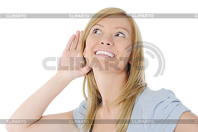 Frau hört Nachrichten. | Foto mit hoher Auflösung |ID 3022060