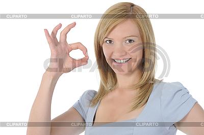 Kobieta pokazano OK | Foto stockowe wysokiej rozdzielczości |ID 3022062