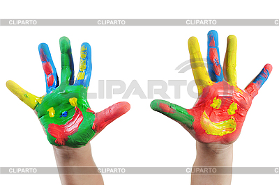 Painted Child Hands  | High resolution stock photo |ID 3022072