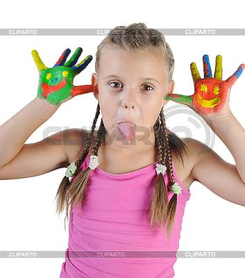 Lustiges Mädchen zeigt Zunge   Foto mit hoher Auflösung  ID 3022076