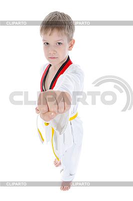 年轻的男孩展示他的拳头   高分辨率照片  ID 3022108